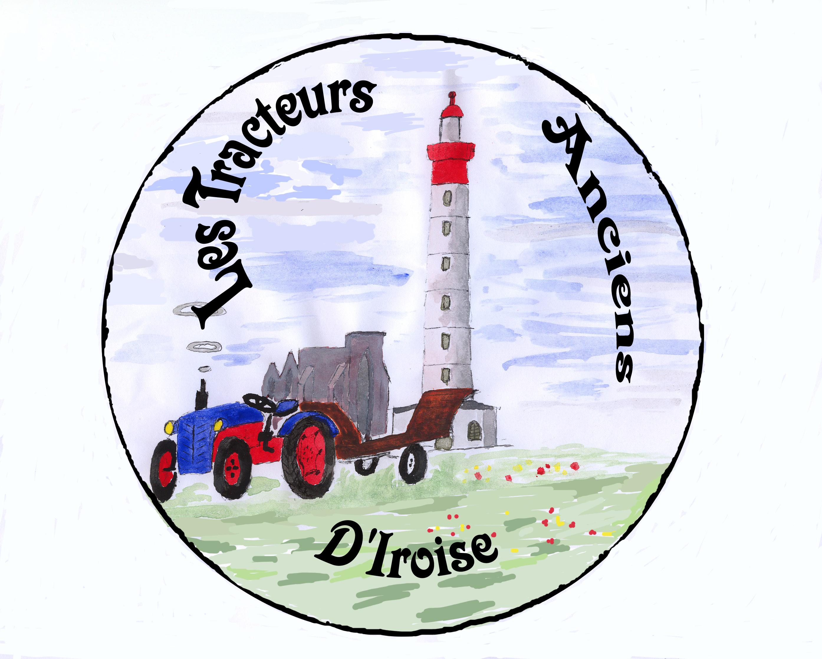 logo asso tracteur ancien d'Iroise